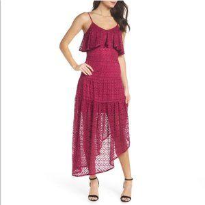 Foxiedox Rayna Asymmetrical Lace Dress